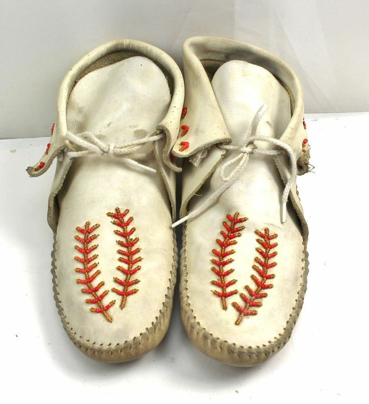 handmade indian moccasins guilmox guilfair american indian leather white 4844