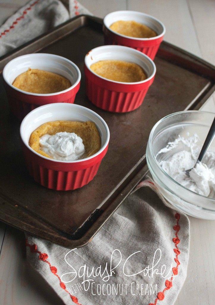 Squash Cakes with Coconut Cream are a perfect vegan Thanksgiving dessert idea, sweet squash recipes, squash recipes, squash cake, vegan squash cake, vegan dessert, #MyPicknSave, #shop Recipe here: http://www.sweetphi.com/squash-cakes-coconut-cream-vegan-thanksgiving-dessert/