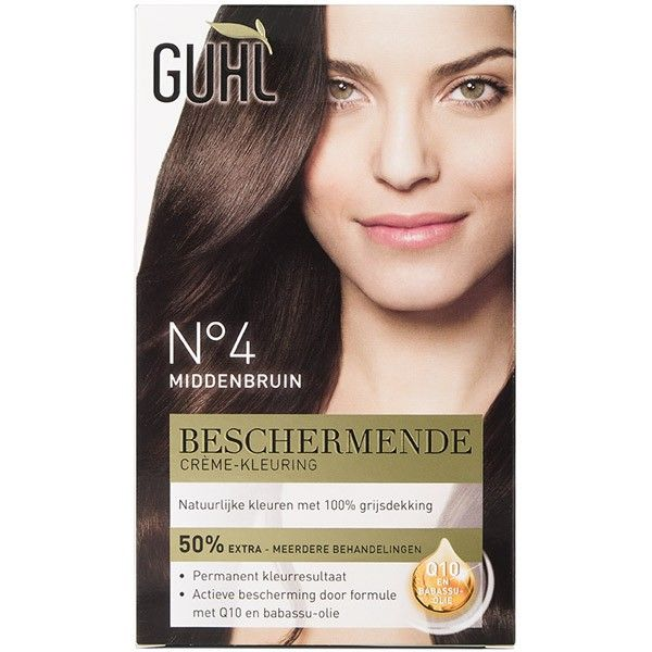 GUHL Beschermende creme-kleuring Nr. 4 Middenbruin 4072600214404