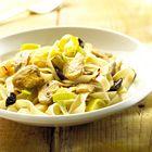 Een heerlijk recept: Tagliatelle met prei en saffraan