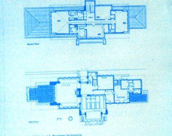 Frank Lloyd Wright Falling Water House Upper door BlueprintPlace
