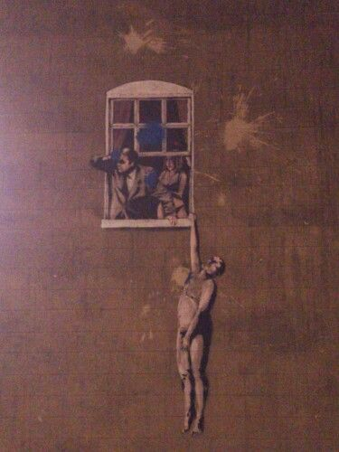 Banksy window Bristol MM