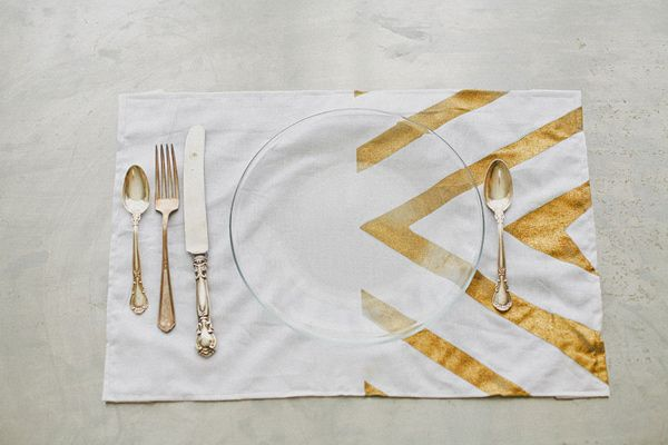 gold placemats //  by Your Cloud Parade