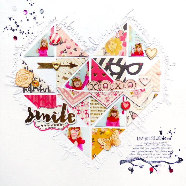 XOXO by @paigeevans for Scrapbook & Cards Today