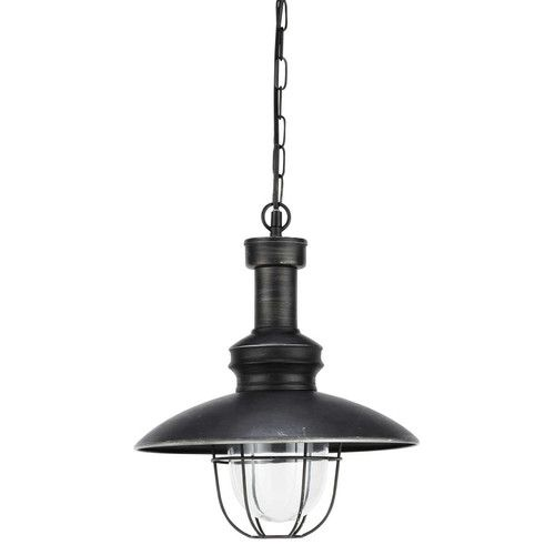 Lampadario nero in metallo e vetro D 31 cm AMARAGE