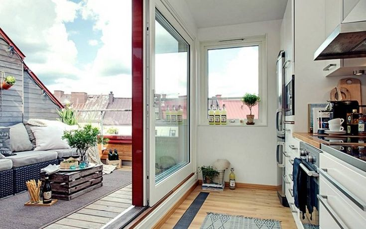 Vista del balcón de una vivienda.