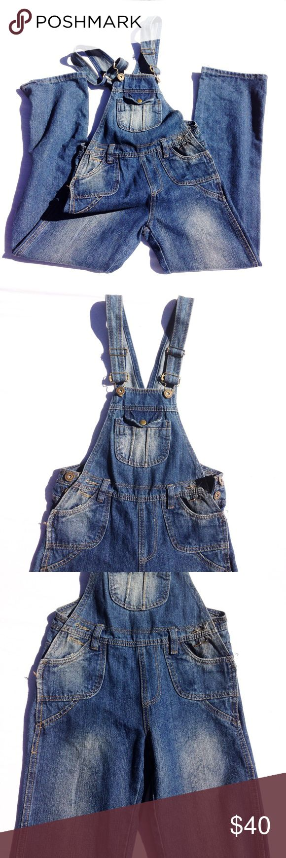🆕JEAN OVERALLS The size rage is missing but there are XS. Very cool and perfectly worn in. You will live in these. Middle, laying down is appx 15.5, inseam appx 28. Thank you for visiting my closet. Please feel free to ask me any questions. I am here to help you. :) Bundle to save. Jeans Overalls
