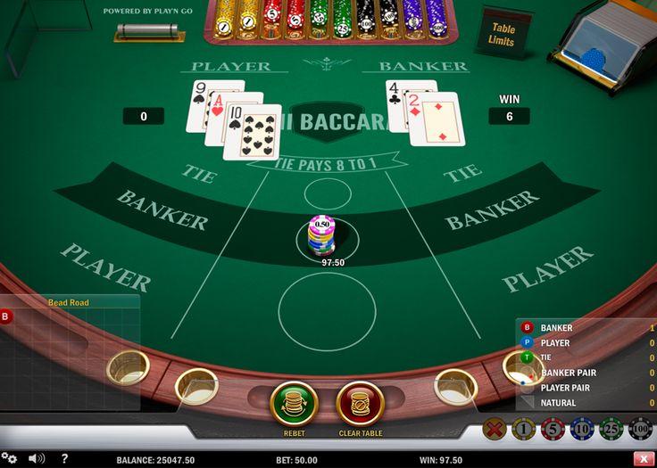 Spiele Mini #Baccarat Spiel von #PlaynGO! Lerne Spiel Besonderheiten und werde ein Profie im Baccarat!
