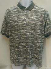 Men's short sleeve polo shirt by izod patterned Size L