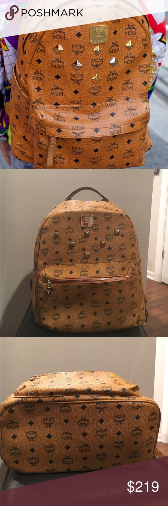 MCM backpack 🎒 MCM beautiful backpack. Price reflect auth!!! MCM Bags Backpacks