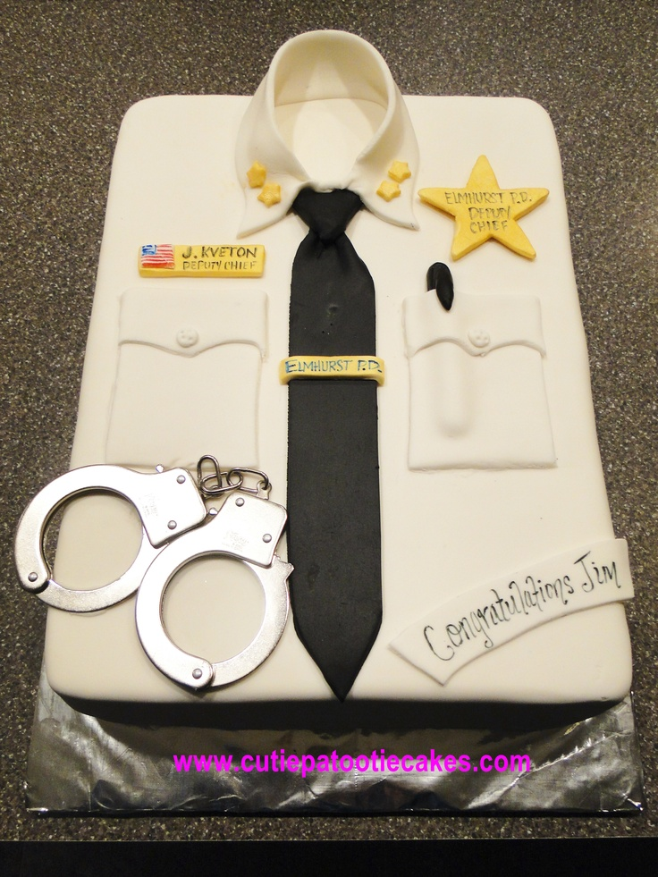 Police shirt cake | Cakes, Cupcakes and More | Pinterest ...