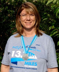 Ruth Dawe took part in the 2013 Bupa Great North Run in some of the worst weather conditions the race has seen. Ruth completed the race in well under her 2 ½ hour target and has raised a fantastic £500 for the SCOPE charity.