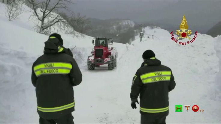 Vigili del Fuoco - Colle (AP)  - Raggiunta la frazione isolata dalla nev...