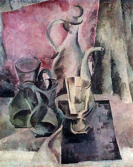 Александр Осмёркин «Кувшин на розовом фоне» 1918 г.