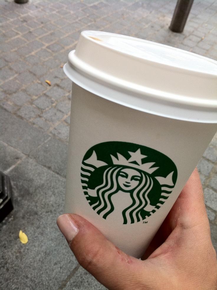 At Starbucks in Paris