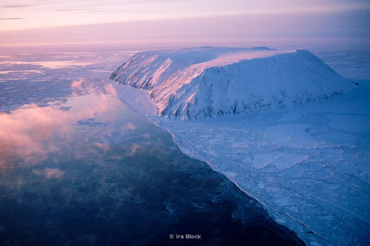 Aerial of Little Diomede Island