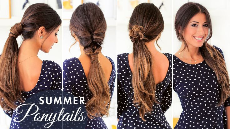 In this week's hair tutorial I show you these three cute ponytails that are very fun and summer appropriate. I've added my Ombre Chestnut Luxy Hair Extension...