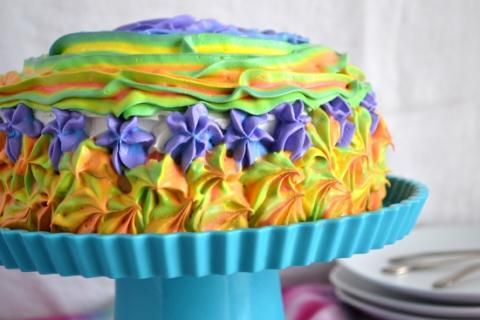 Rainbow Frosting, Rainbow Cake, Poke Cake, Jello Recipes