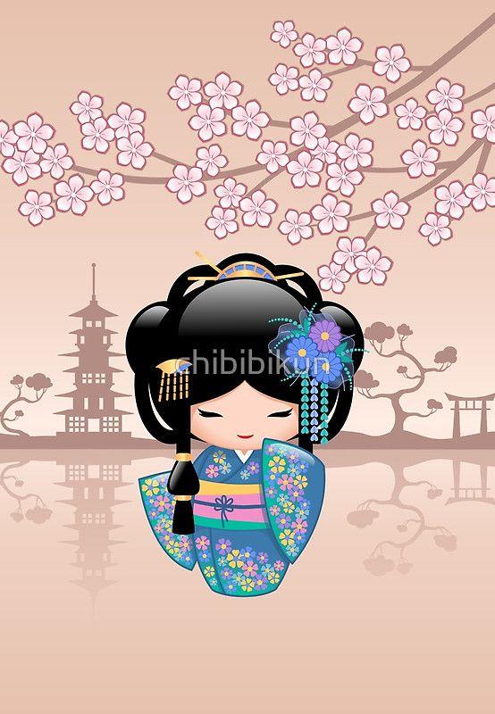 «Japanese Keiko Kokeshi Doll» de chibibikun