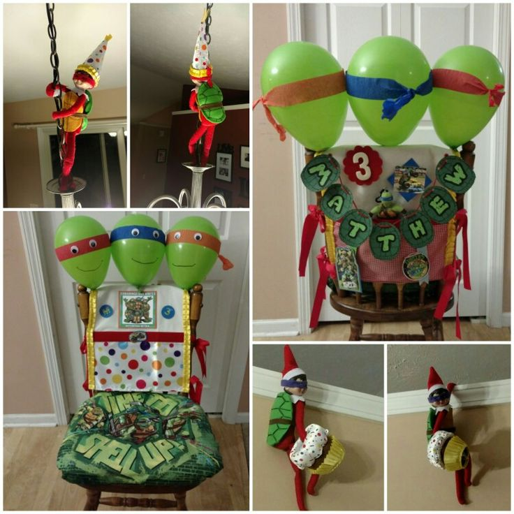Elf On The Shelf Ninja Turtle Birthday Tradition Elf On