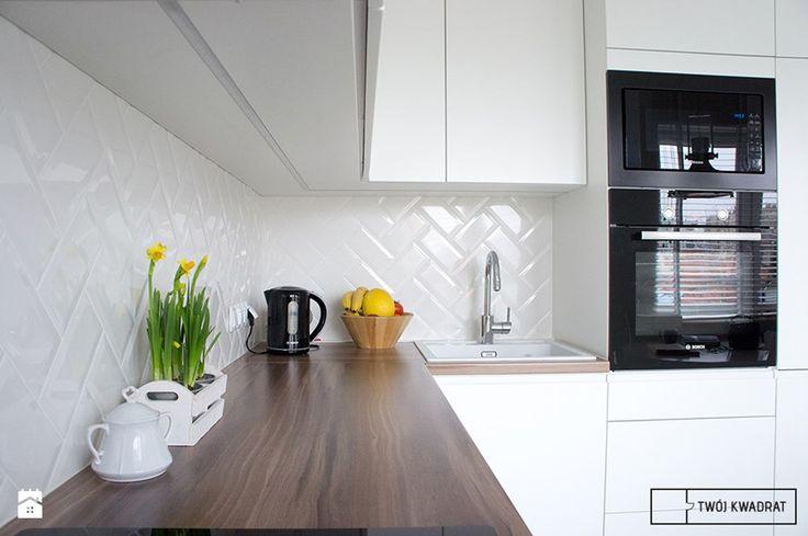 Inspiracja jest kobietą - mieszkanie 75m2 w Warszawie - Kuchnia, styl nowoczesny - zdjęcie od Twój Kwadrat