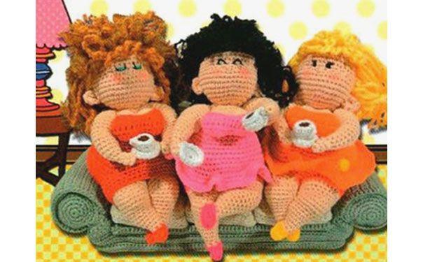 """Вязаные куклы """"Милашка-толстушка"""""""