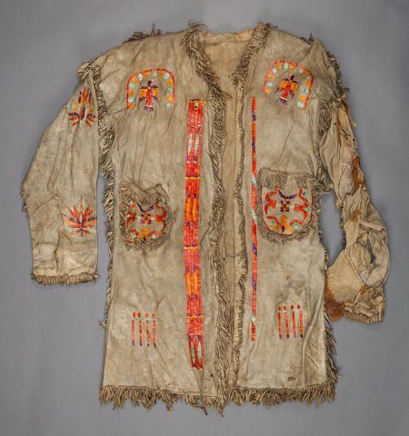 American Indian Art:Beadwork and Quillwork, A SIOUX MAN'S QUILLED HIDE COATc. 1880  Image #1