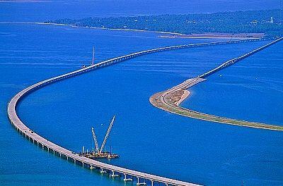 Aerial photo of Bridge to St. George Island, FL