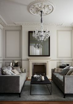 Living Room Painted In Quarter Silver By Zoffany Part 69