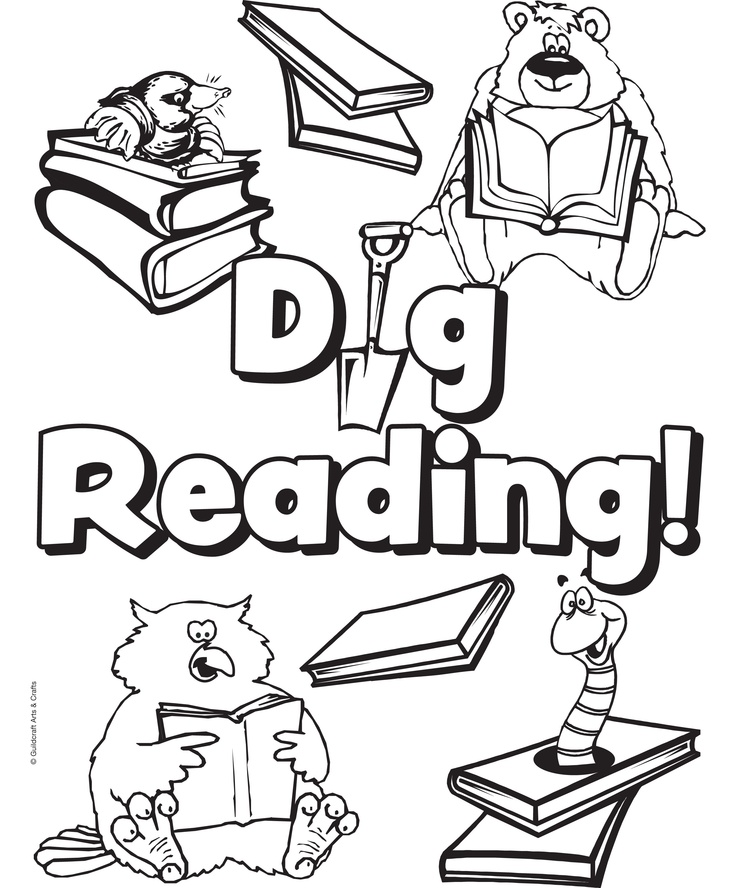 library coloring pages printables - summer reading coloring sheets coloring pages