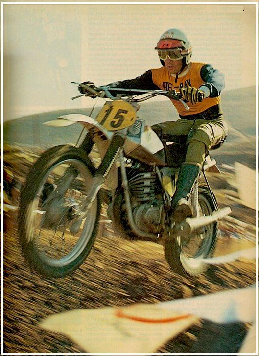 Adolf Weil and his 1974.5 Maico Trans-AM bike