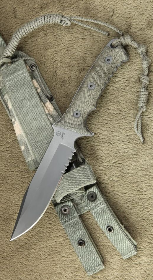 Chris Reeve Pacific Tactical Fixed Knife Blade. The Chris Reeve Pacific fixed blade with full tang CPM-S35VN stainless steel construction and sandblasted micarta handle scales. Designed in collaboration with Bill Harsey to honor elite military, this blade is built to handle any environment.