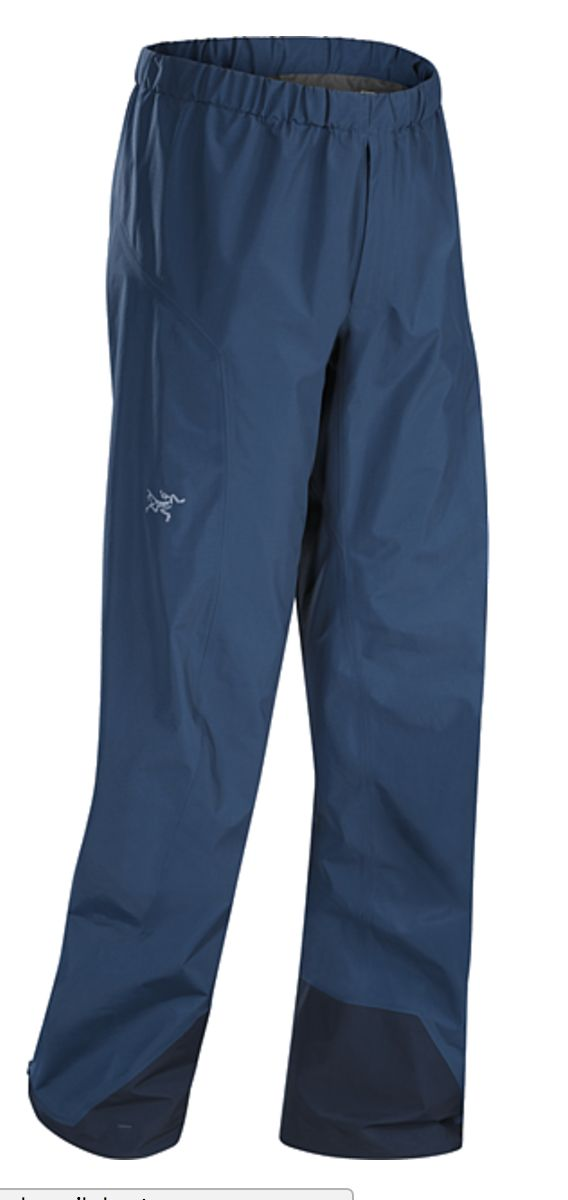 Lightweight, packable, waterproof and breathable GORE-TEX® pant, designed for maximum mobility. Designed for take-along emergency use when the weather takes a turn for the worse. Beta Series: All-round mountain apparel | SL: Super Light.  http://www.arcteryx.com/product.aspx?country=nz&language=en&gender=Mens&category=Pants&model=Beta-SL-Pant