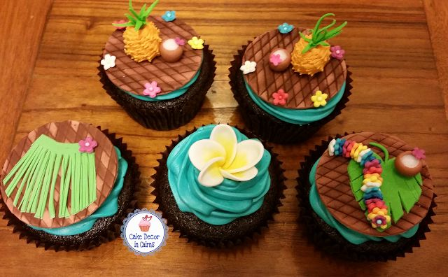 Edible Tropical Fondant Toppers! Aloha! It's  Luau Time!