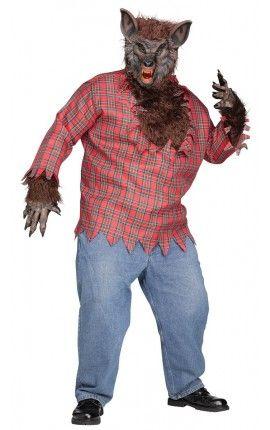 Disfraz de hombre lobo salvaje talla grande