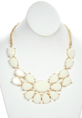 Only 24.50- Elizabeth Taylor Necklace in White - Jewelry