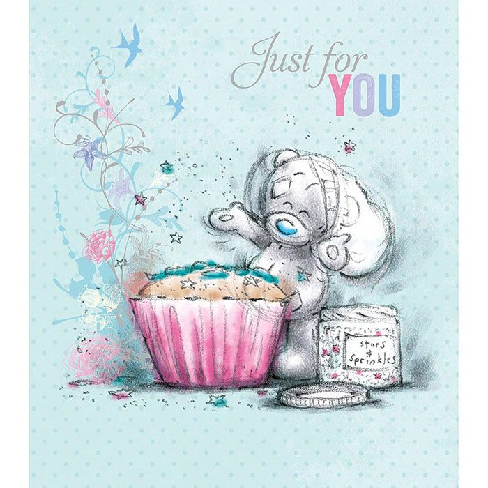 24 best me to you plain greeting cards images on pinterest bear just for you tatty teddy with cupcake me to you bear card 189 m4hsunfo