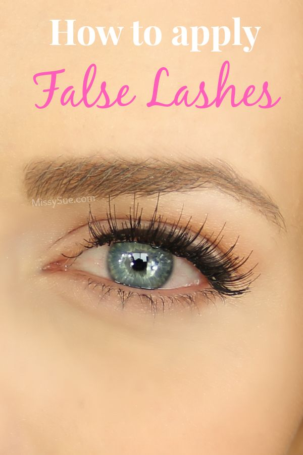 17 Best Ideas About Applying False Lashes On Pinterest