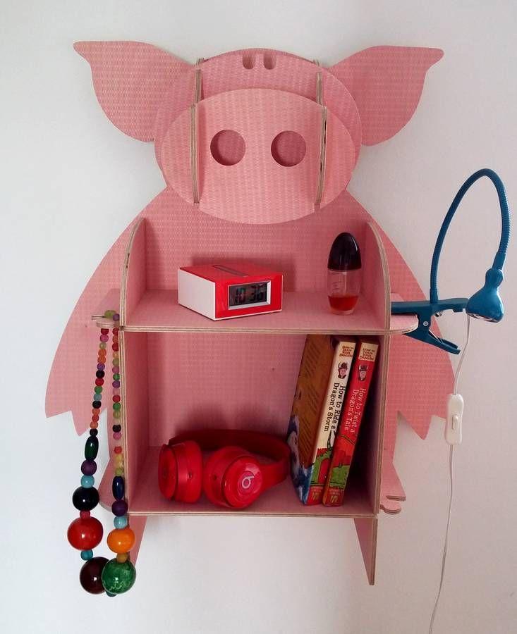Poppy The Pig Wall Shelves