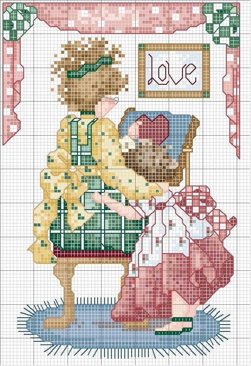 Cross stitch: Mothers Day