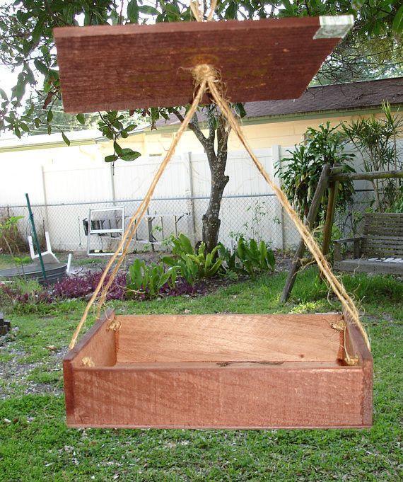 upcycled cigar box bird feeder