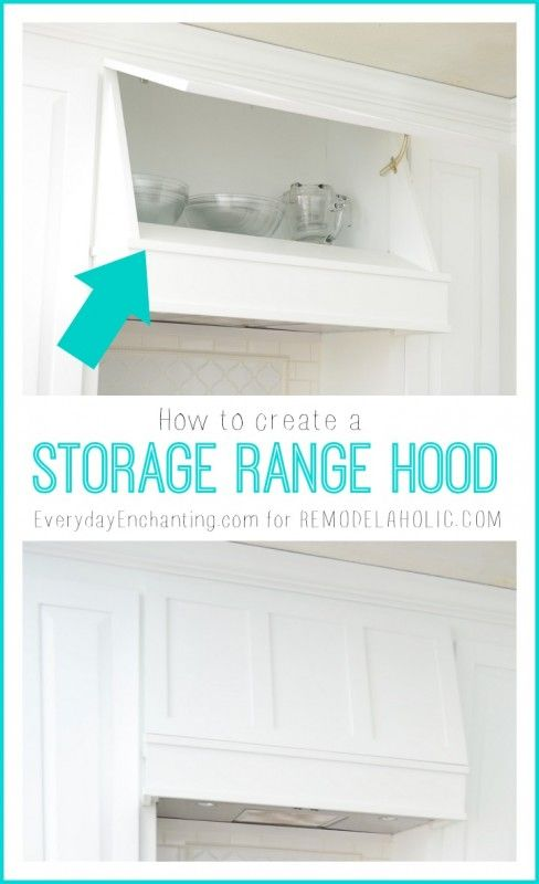 How to create a Custom Storage Range Hood. Nice idea if you have a hood that is not vented to the outside.