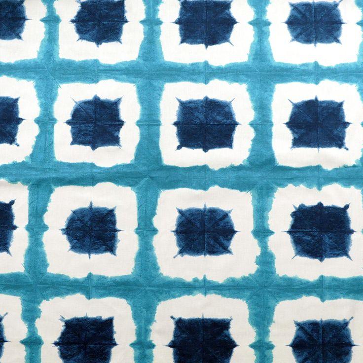 tissu au mètre imprimé bleu : Tissus Ameublement par atelier-clair-obscur