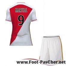 Maillot Du AS Monaco Rouge/Blanc Enfant MARTIAL 9 Domicile 15 2016 2017 Pas Chere