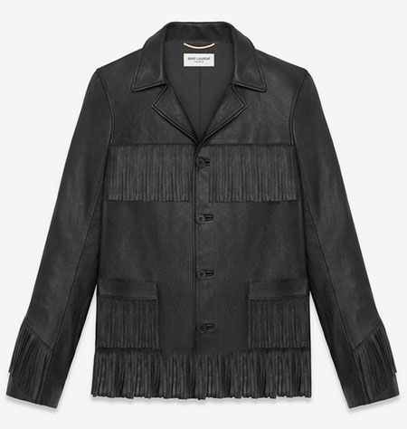 Saint Laurent Hedi Slimane leather jacket