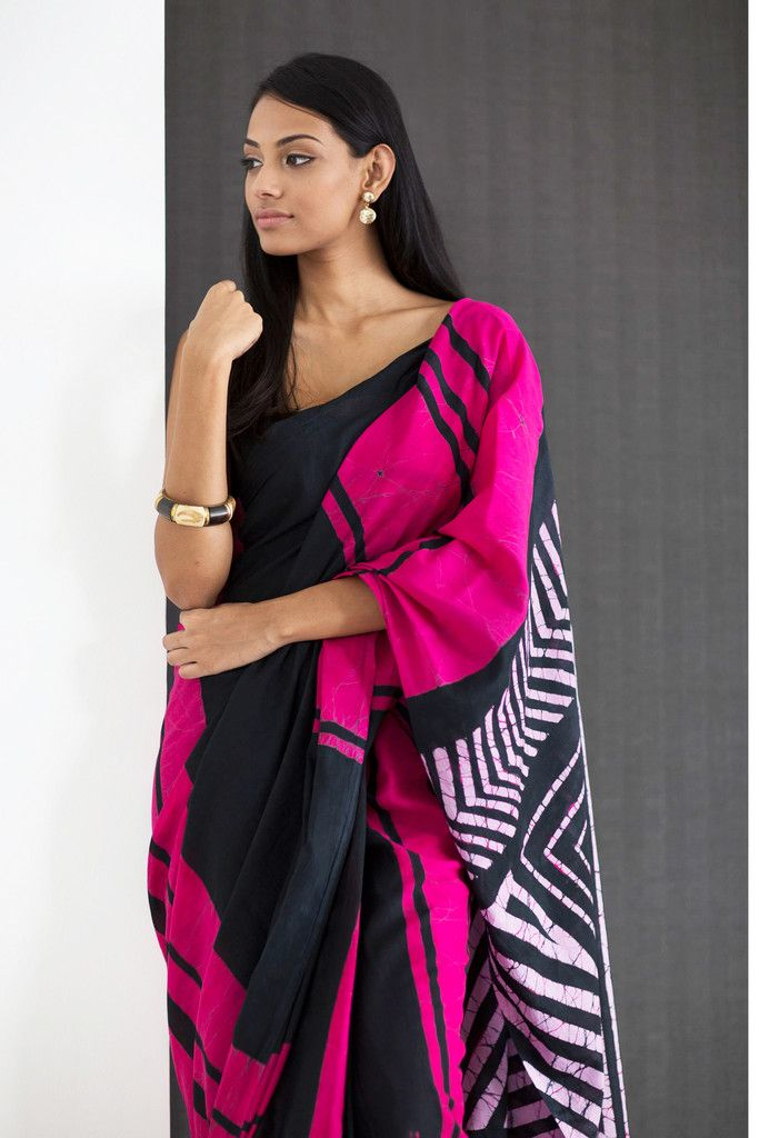 Iri Sithuwama Batik Saree from FashionMarket.lk
