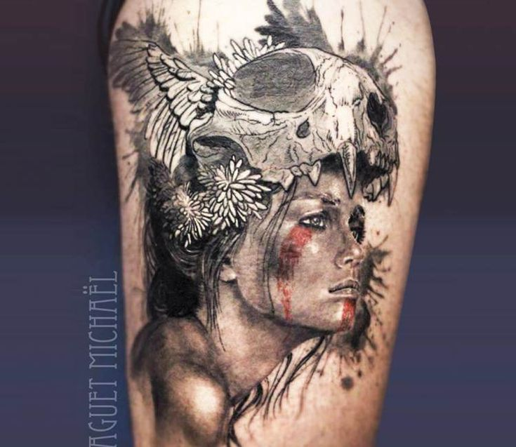 Squaw tattoo by Michael Taguet