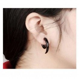 GR.NERH Punk Rock Black Earrings