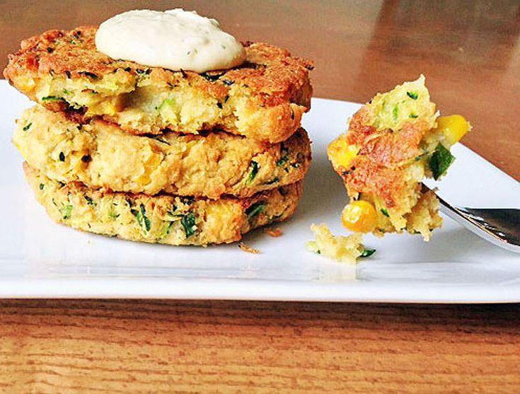 10 Vegan Main Courses for a Refreshing Summer Dinner: Zucchini and corn veggie patties