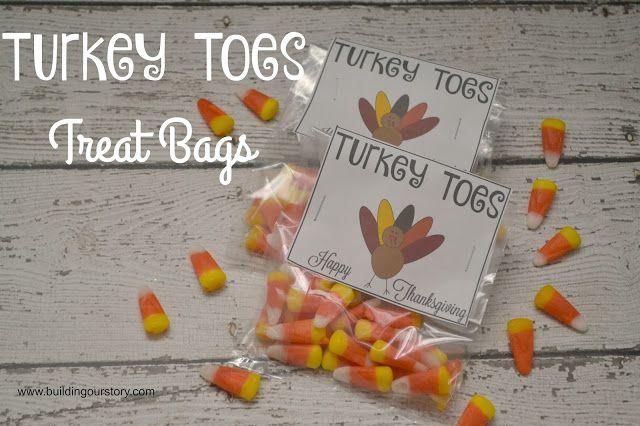 turkey toes treat bags free printable